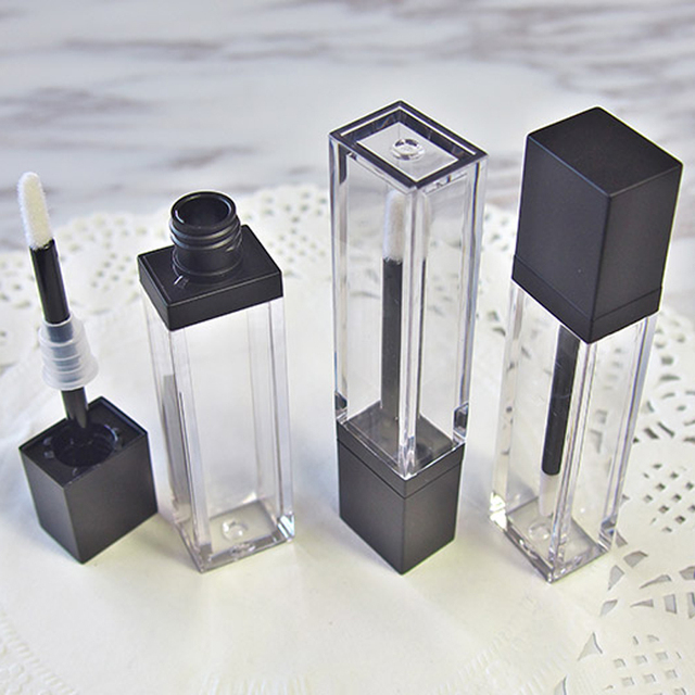 7ml Square Makeup Liquid Empty Lipstick Lip Gloss Tubes High Quality Transparent Cosmetic Packaging Container 20pcs/lot