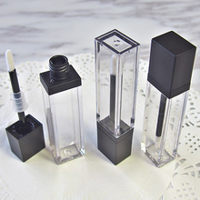Batom líquido vazio para maquiagem, 7ml, quadrado, gloss labial, recipiente de embalagem de cosméticos transparente de alta qualidade 20 pçs/lote