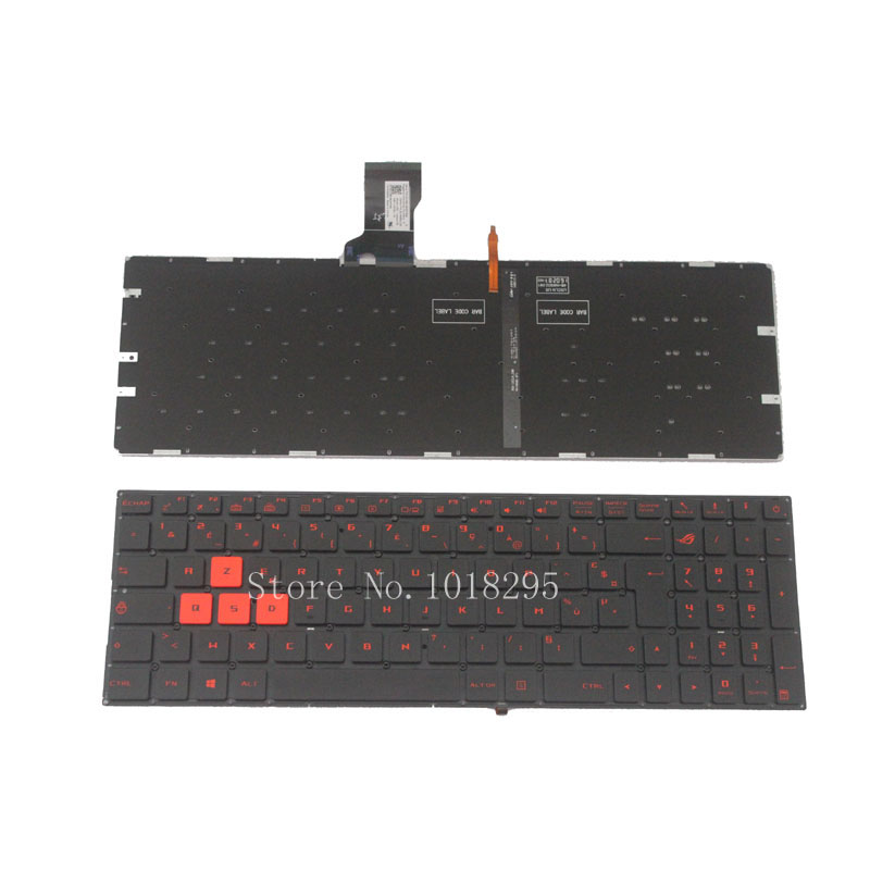 French keyboard for Asus GL502 GL502VM GL502VT ROG With backlight FR Laptop keyboard NEW fr french backlight keyboard for fujitsu lifebook e753 e754 laptop sliver frame laptop keyboard fr layout