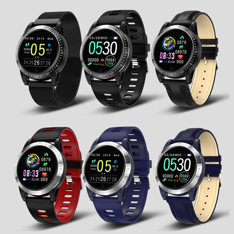 Smart Bracelet Sports Round Watch Men Women Heart Rate Blood Pressure Fitness Tracker Waterproof Android IOS Color Reminder Band in Smart Wristbands from Consumer Electronics