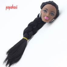 1PCS Black Doll Head With Black Hair DIY head Accessories For 1 6 Barbie Doll Kids