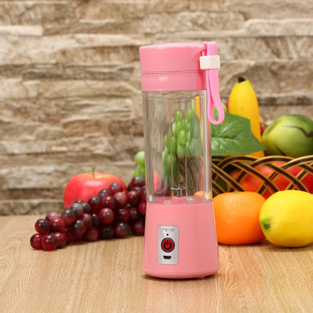 OUTAD 380ml USB Electric Rechargeable Fruit Juicer Blender Machine Handheld Smoothie Maker Blender Bottle Juice Shaker 4 Colors