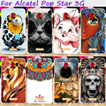 Hard Plastic Minions Flower Phone Cases For Alcatel OneTouch Pop Star 3G 5022 5.0 inch Phone Cover Accessories Hood