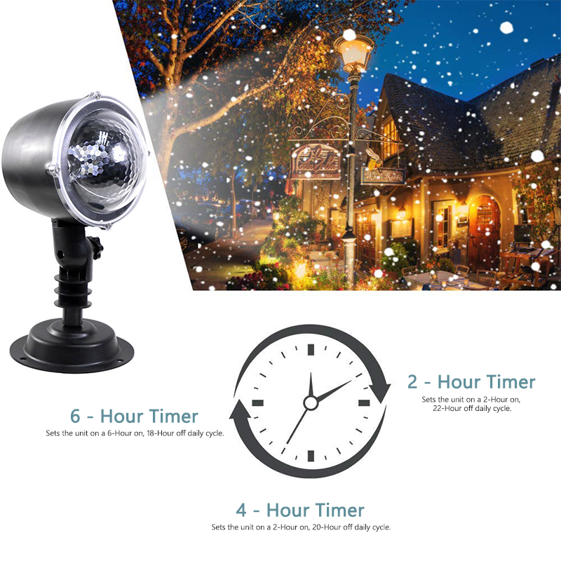 Christmas Snowflake Laser Light Snowfall Projector IP65 Moving Snow Outdoor Garden Laser Projector Lamp For New Year Party|Stage Lighting Effect| |  - title=