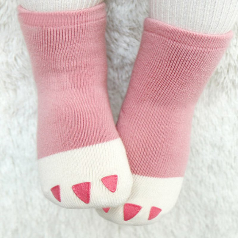 Newborn Kids Baby Socks Claw Pattern Breathable Girls Infant Toddler Socks