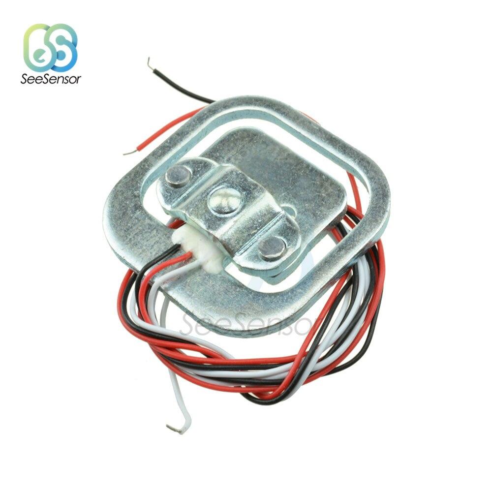 50kg Load Cell Pesando Sensor de Tensão de Resistência Do Corpo Meia-ponte Total Peso Balanças Sensores de Pressão Ferramentas de Medição