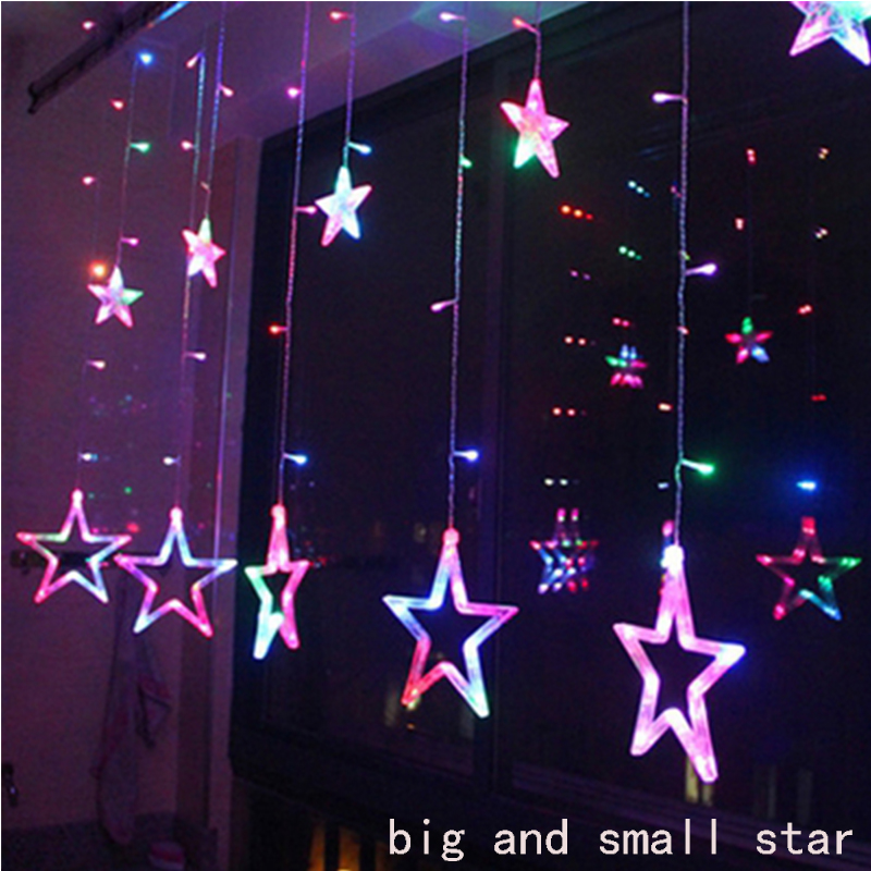2M Led Christmas Stars Lights Indoor 220v LED Fairy Lights Holiday Lights For Party/New Year Decoration Christmas Lights