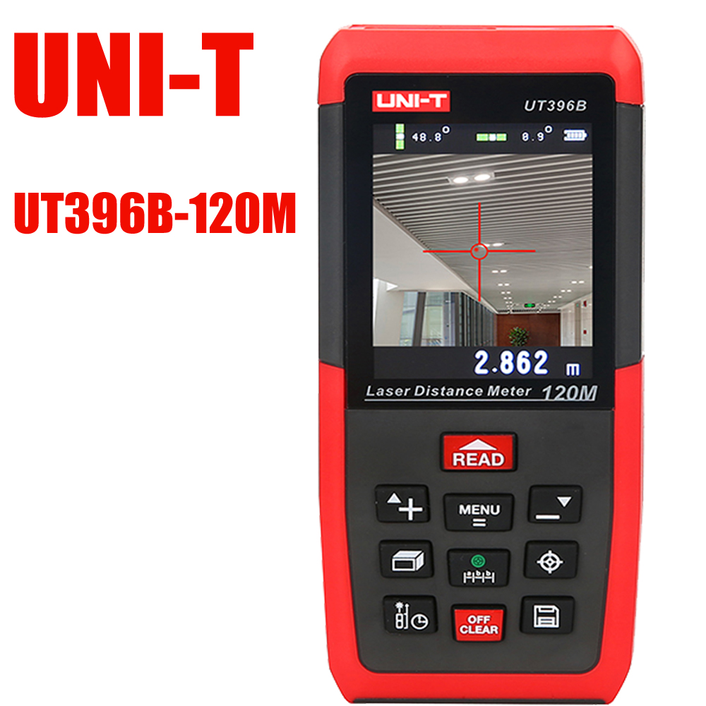 UT396B Color Laser Rangefinder Professional Laser Distance Meters 120m Electron Level Ruler Area Volume Tools Free