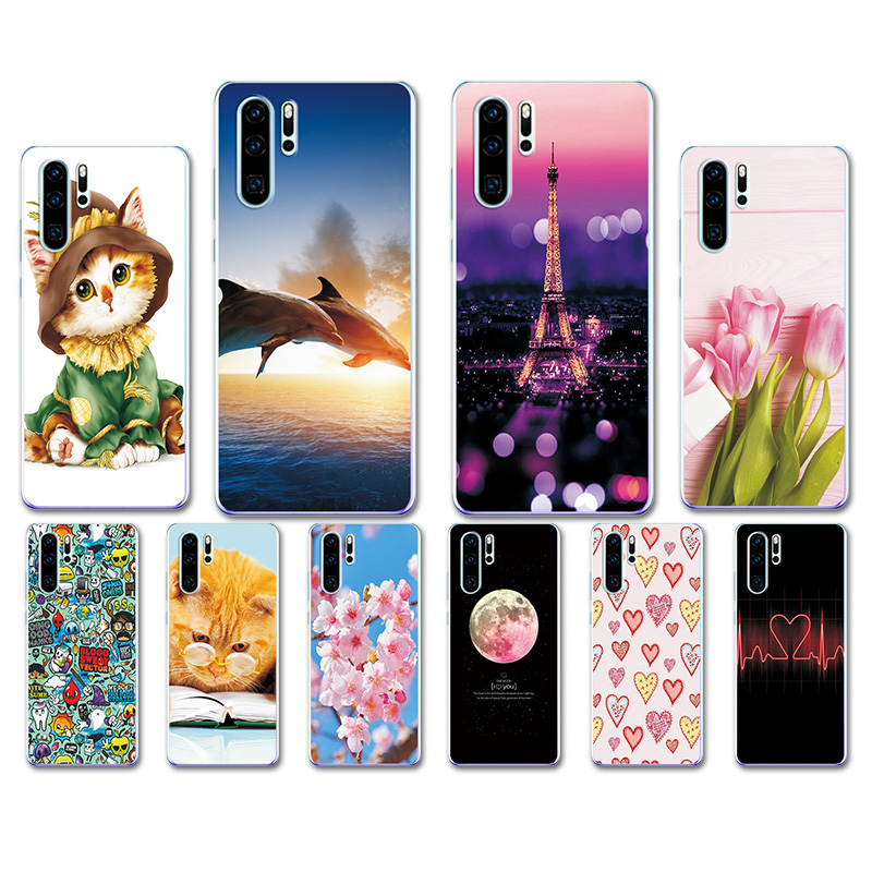 Case Cover For Huawei P30 Pro Case Huawei P30Pro Case Heart TPU Phone Back Cover For Huawei P30 Pro VOG-L29 ELE-L29 P 30 Lite
