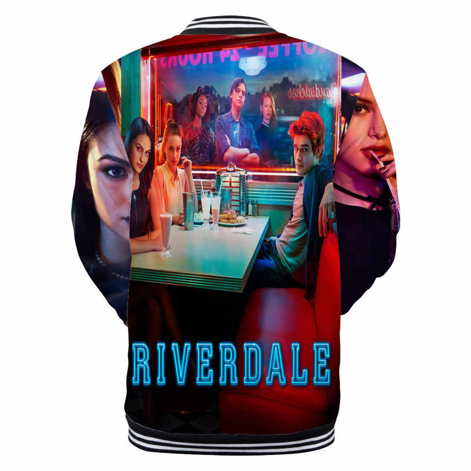 New 3d Riverdale Jacket Serpents American Hot TV Show Women Men Baseball Jackets Kpop Hip Hop Snake Hoodies Sweatshirt Coat 4XL