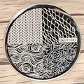 Nail Art Stamping Imagen PlatesKniting Patrón de Red de Acero Inoxidable de Alta Calidad Placa de BRICOLAJE Nail Art Stamping Plantilla 8237829