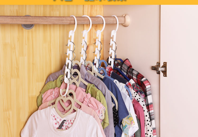 Superb 6pcs Space Saver Wonder Hanger Magic Clothes Hook Closet Organizer  Multifunctional Rack