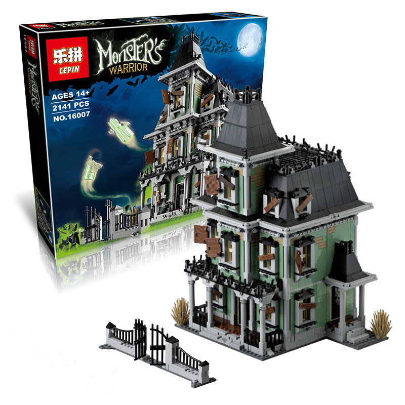 IN STOCK IN STOCK New LEPIN 16007 2141Pcs Monster fighter The haunted house Model set Building Kits Model Compatible With10228  new in stock kt224510