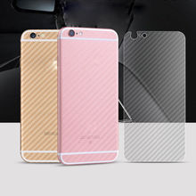 3D Carbon Fiber Rear Screen Protector For iPhone 8 7  X Back Cover Protective Guard Film for plus Drop Shipping 80