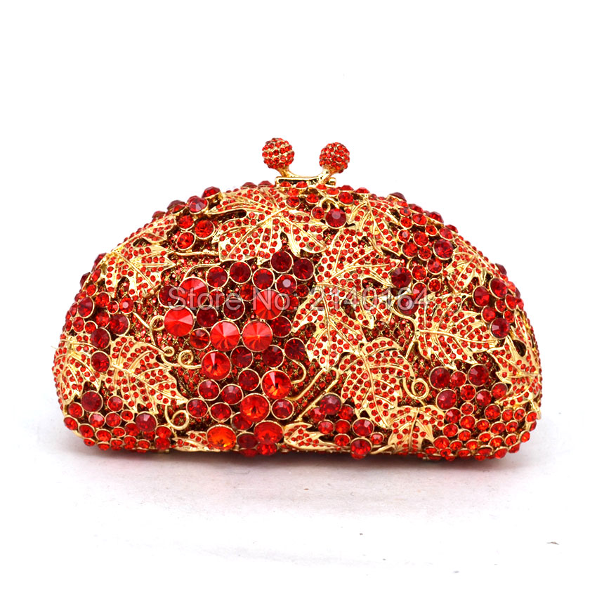 Women Crystal Bag Ladies Wedding Evening Clutches Bag Female Socialite Style Party Bag Gold red handbag (88173A) luxury crystal clutch handbag women evening bag wedding party purses banquet