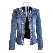 HEE GRAND Jeans Jackets Women Chaqueta Mujer Autumn Denim Jacket Casaco Crystal Slim Short Outwear Plus Size S-4XL WWJ920