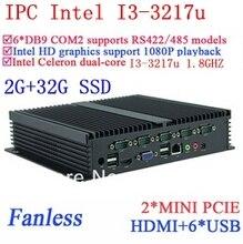Широкое применение Prusa i3 промышленных пк гигабитный сетевой NM70 6 USB 6 COM 2 г оперативной памяти 32 г SSD окон linux