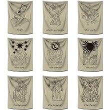 Hippie Mandala Tapestry India Tarot Divine Witchcraft Wall Hanging Dorm Headboard Sun Moon Psychedelic Ouija Cloth