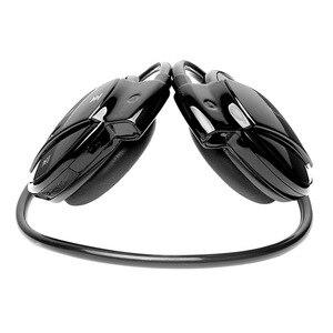 Image 2 - MINI501 Wireless Bluetooth earphones Stereo Foldable Sport Headphones TF card earphone FM Wireless With Mic For phone