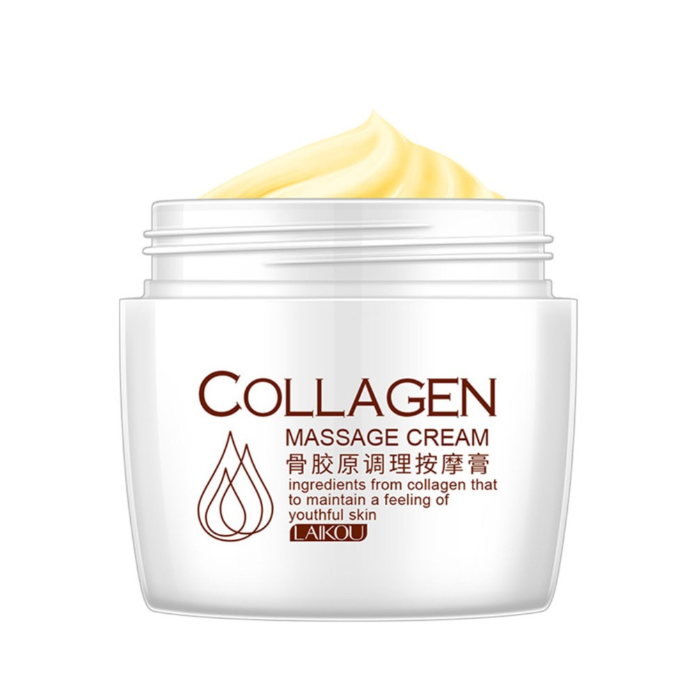 2018 NEW Collagen Facial Massage Cream Deep Cleansing Remove Blackhead Purify Pores Quickly Nutrition Promotion Price image