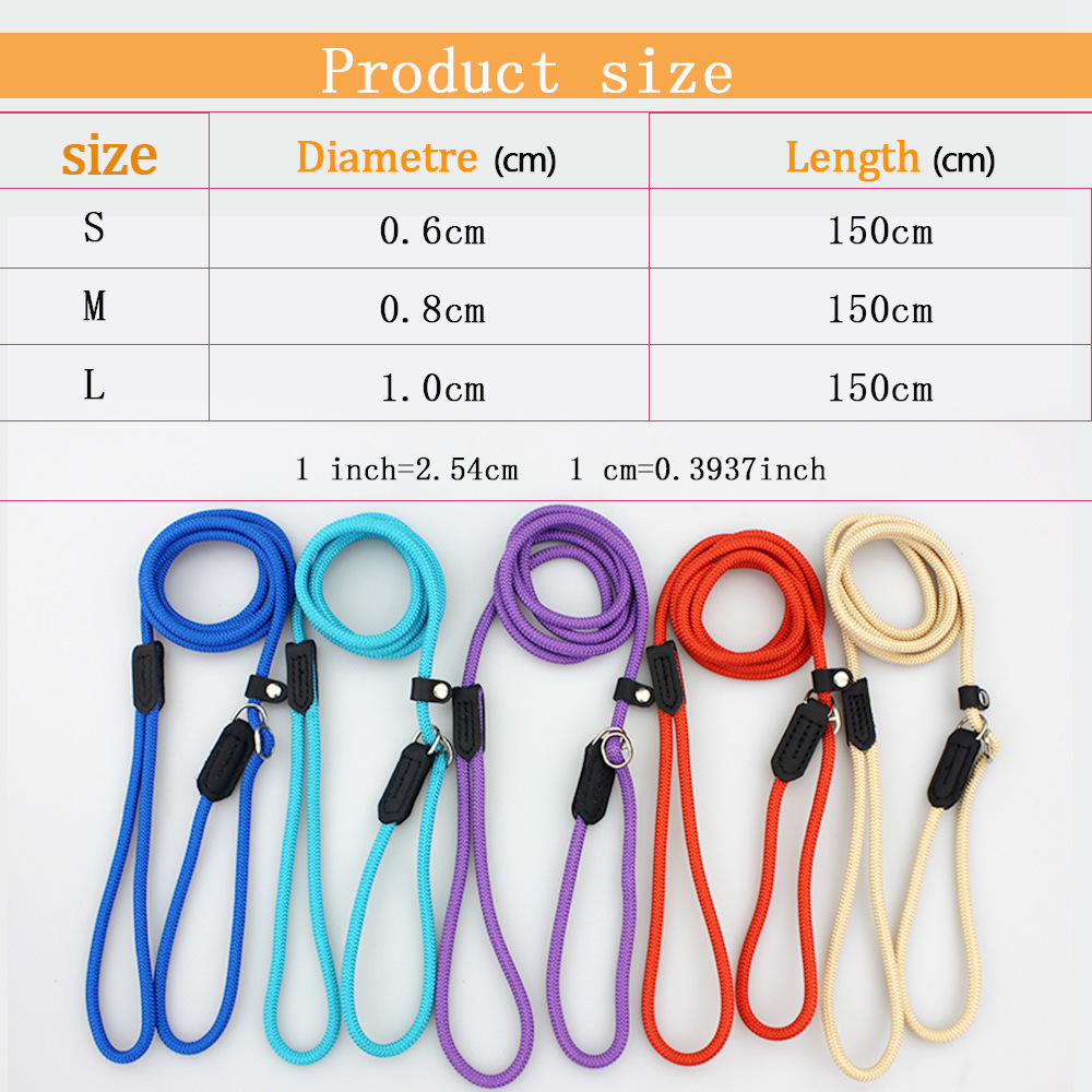 Dog Leashes For Large Dogs Leash Nylon Puppy Dog Collar Leash For Small Dogs Leads Basic Leashes Solid Rope Pet Products (2)