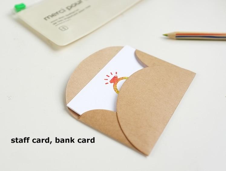 100pcs LxW: 9x6cm Retro kraft paper envelope Mini Series Card Envelope bank card cover postcard photo suit office