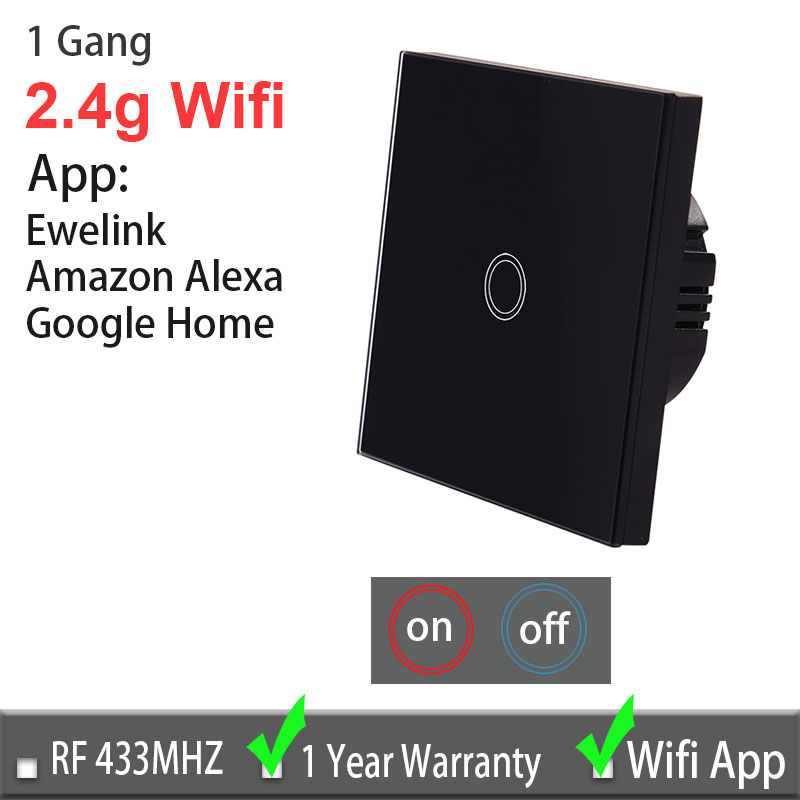 US $10 18 49% OFF|Ewelink Touch Switch Wifi 2 4G Smart Home Touch Switch  Wall Panel 220V,EU/UK Standard Smart Led Wifi Control Alexa For Vhome-in