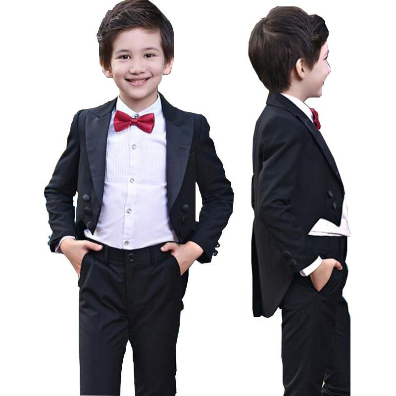 169b39a98 Aliexpress.com  Comprar Niños Trajes para bodas 95 cm 165 cm niños prom  Trajes ropa de boda para Niños niños Conjuntos de ropa muchacho tuexdo niños  ...