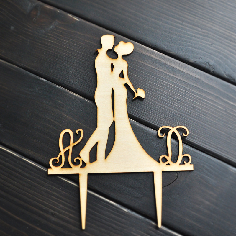 wedding cake topper monogram initials aliexpress buy personalized wooden wedding cake 8808