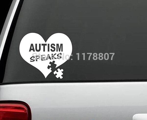 12.7cm x 11cm Autism Speaks Car Window Sticker Vinyl Decal For Truck Bumper SUV Door Wall Art 13 Colors