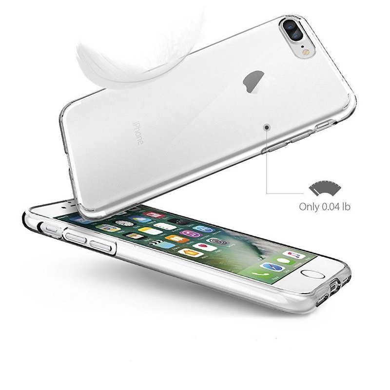 超薄型ソフトtpu透明ケースのためのiphone 5 5 s se 6 6 sプラス7プラス8 8プラスxクリアシリコンバックカバー電話ケースシェル
