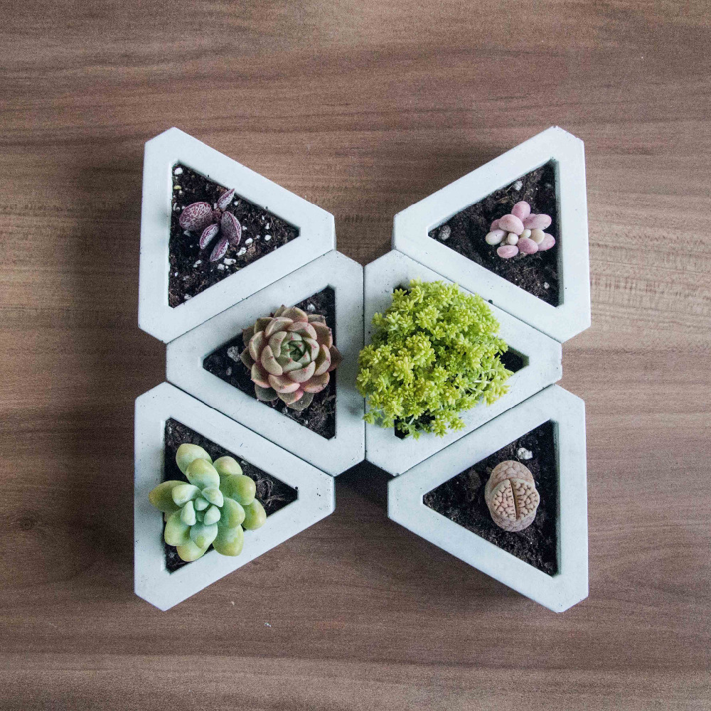 silicone molds Triangle combination of miniature flower machine multi - Kitchen, Dining and Bar - Photo 1