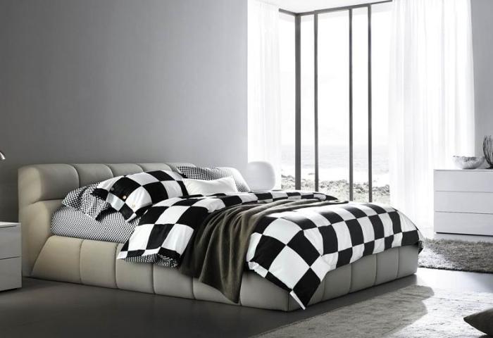 Black and white plaid bedding set king queen size duvet