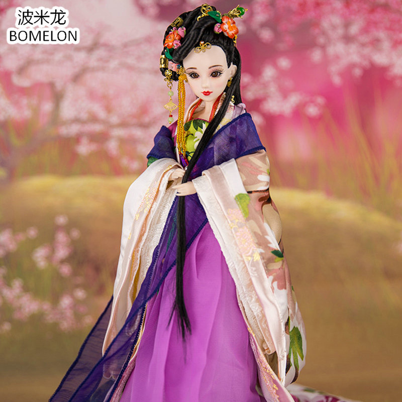 Original Handmade Chinese Ancient Doll Tang Dynasty Beauty 1/6 Bjd Dolls 12 Jointed Doll Toy For Girl Christmas Gift Brinquedo high end handmade chinese dolls ancient costume tang princess jin yang jointed doll articulated kids toys girls birthday gift