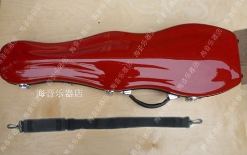 Nieuwe roze vorm hard glasvezel 4/4 viool case sterke - 4