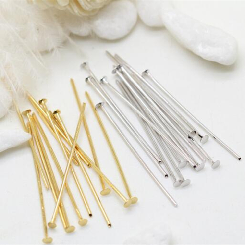 22mm  Jewelry Findings Flat Head Pins Jewelry Findings Wholesale 100 Pcs