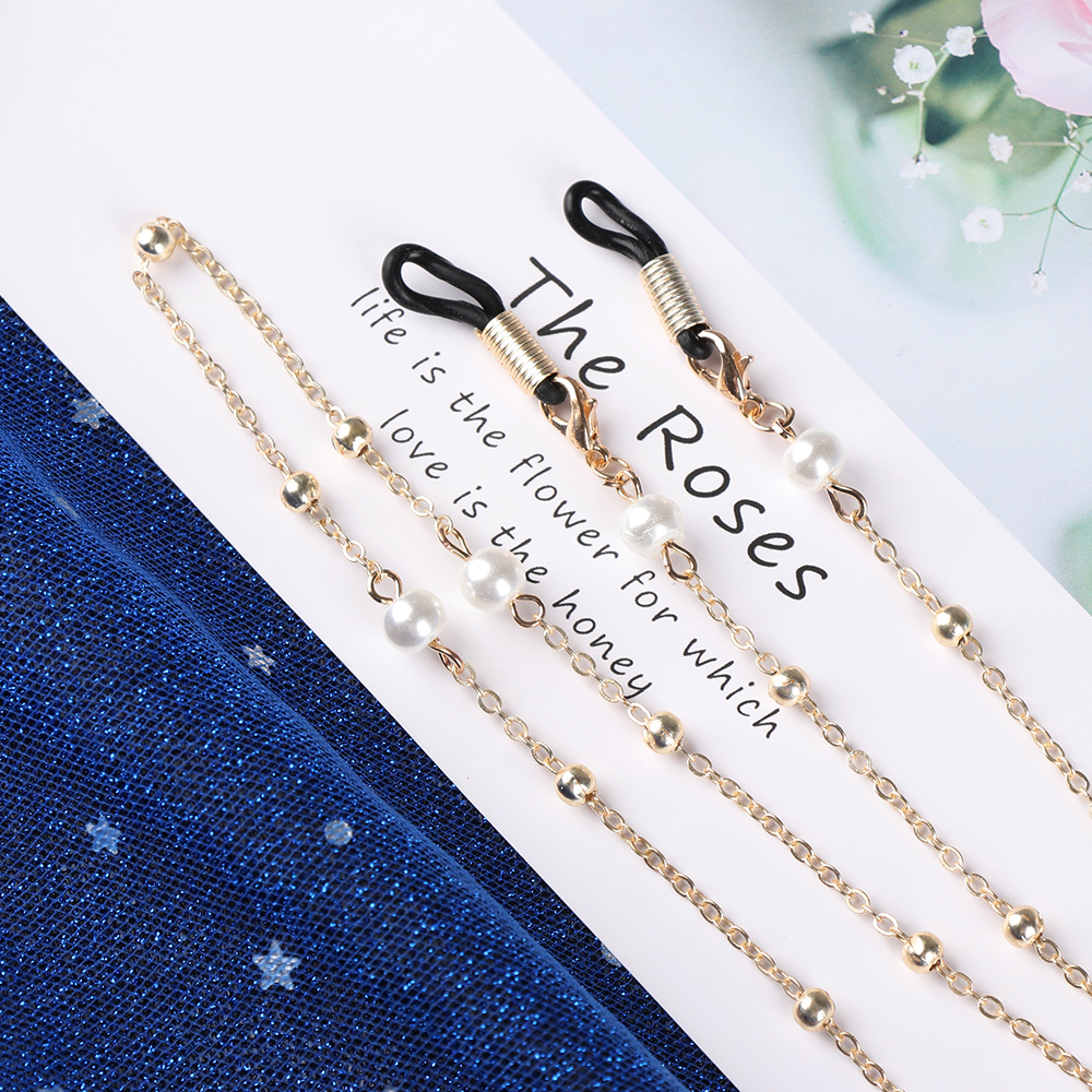 1Pcs 70cm Glasses Chain Elegant Pearl Chains For Women Beaded Sunglasses Eyeglasses Reading Glasses Lanyard Cord Holder Ropes