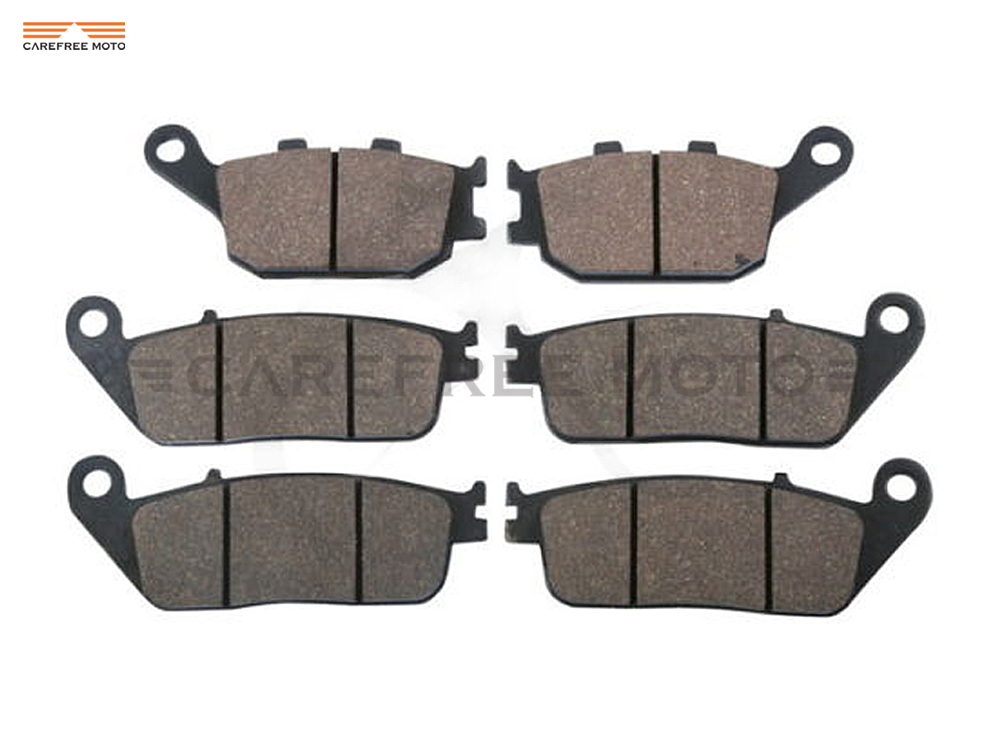 6 Pcs Semi-Metallic Motorcycle Front & Rear Brake Pads Brake Disks Case for HONDA CB 600 CB600 HORNET 1998-1999