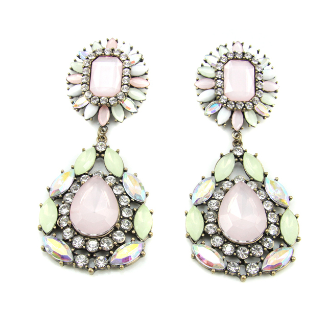 Beautiful Vintage Brand Crystal Drop Earrings Fashion Jewelry For Women Free Shipping