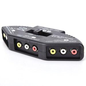 Image 5 - Tonbux 3 Way الصوت والفيديو AV RCA الخائن الأسود التبديل محدد صندوق الخائن مع/3 كابل RCA