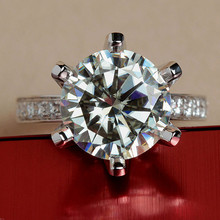 5 Carat ct F Color Engagement Wedding Ring Party Real Dia mond Accents Solid 14 K 585 White Gold Brithday Christmas Love GIft