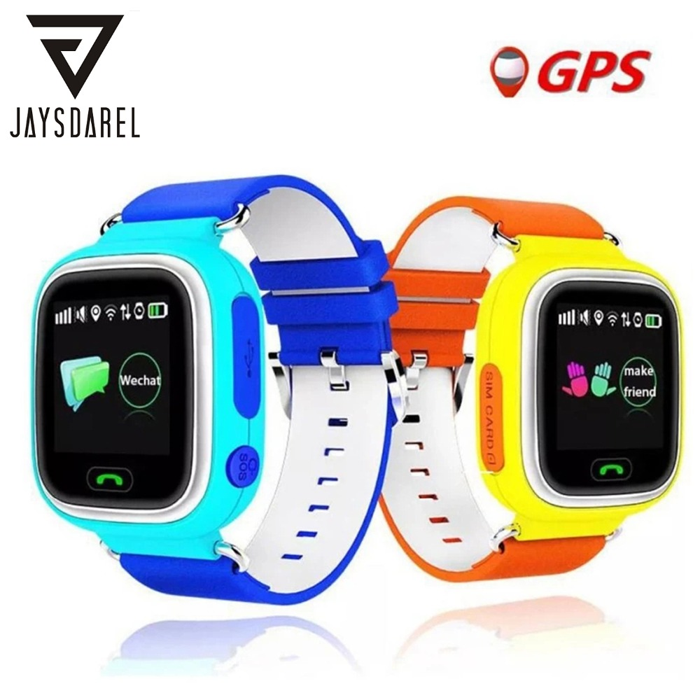 Q90 Kid Smart Watch GPS + BDS + LBS + APGS + Wifi Location Device Tracker SOS Ring Baby Safe Anti-Lost Bluethooth SIM-kort Smartwatch