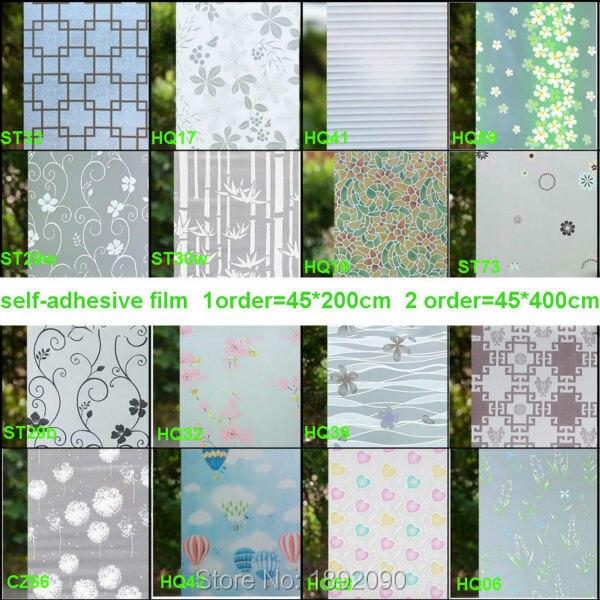 2017 45*200 cm Privacy Decorative Window Film Opaque Window Sticker Pegatinas Para Ventanas Raam Folie Vinyl White Bathroom ...
