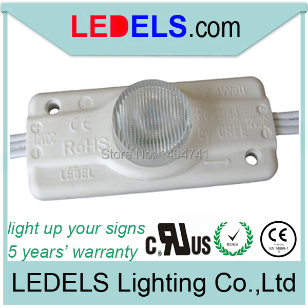 UL Listed CE ROHS approved 2.4w led module 200lm CREE-XPE 3535 chip cree led 12v led lighting for signage box