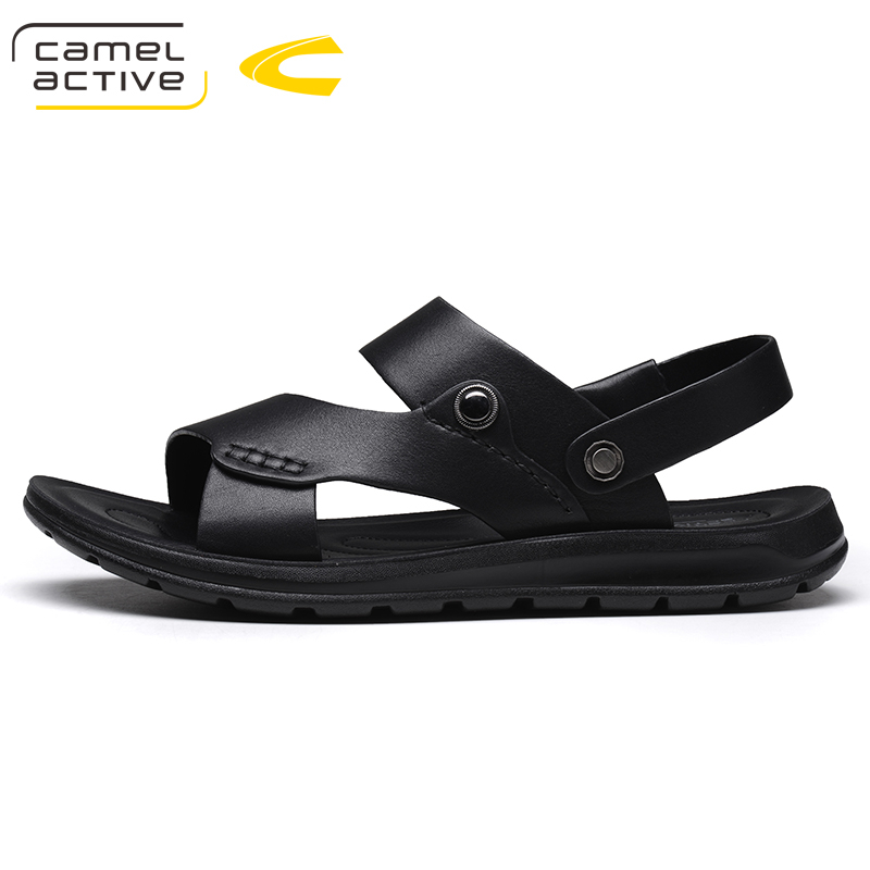 Camel Active Brand Summer Casual Male Sandals For Men Shoes Genuine Leather Quality Walking Beach Comfortable Designer Sandals 6