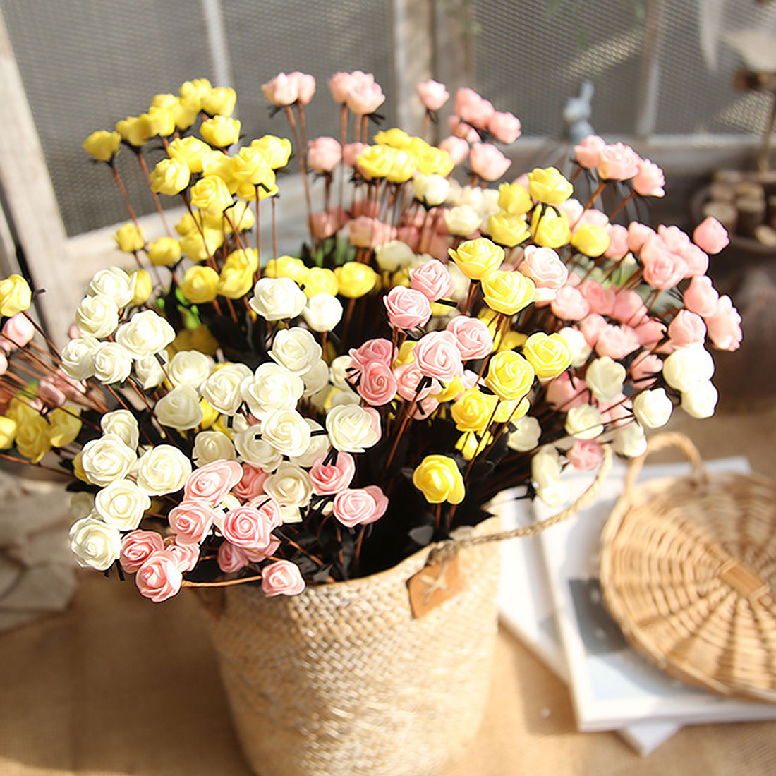 Good Quality Artificial Flowers 15 Heads Fake Flower Rose Head