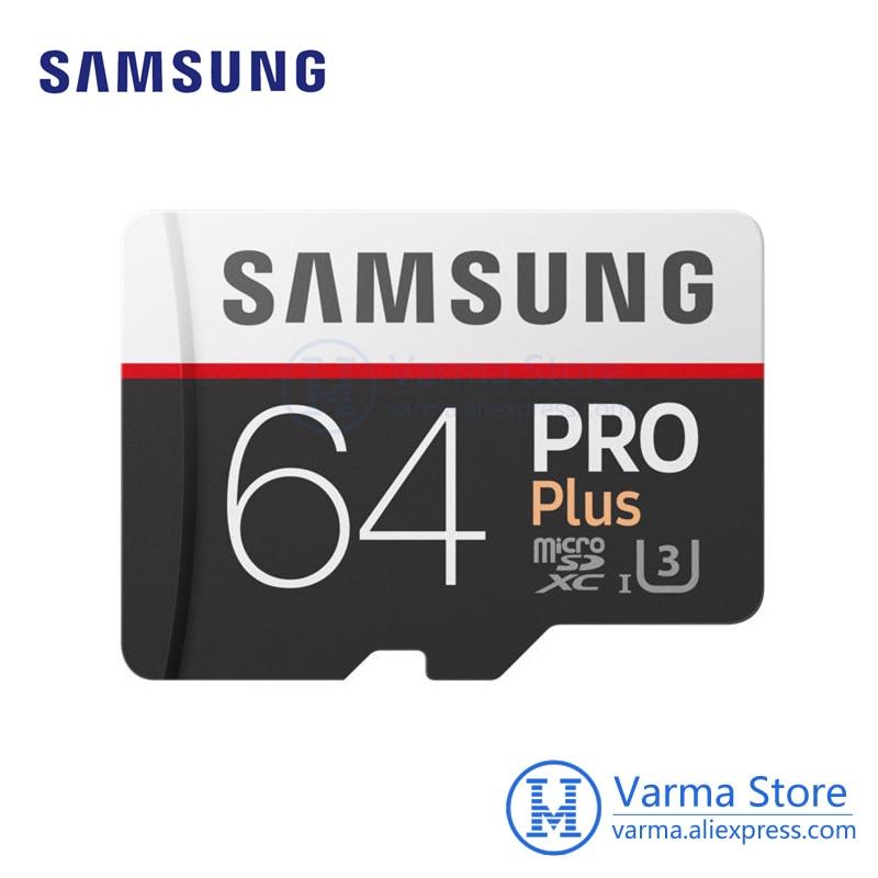 Samsung TF card MB-MD PRO Plus microSD flash memory card UHS-I 64GB U3 Class10 microSDXC high-speed memory card samsung microsd card 16gb 32gb 64gb 128gb 100mb s micro sd memory card tf flash card for phone class10 u3 sdhc sdxc free adapter