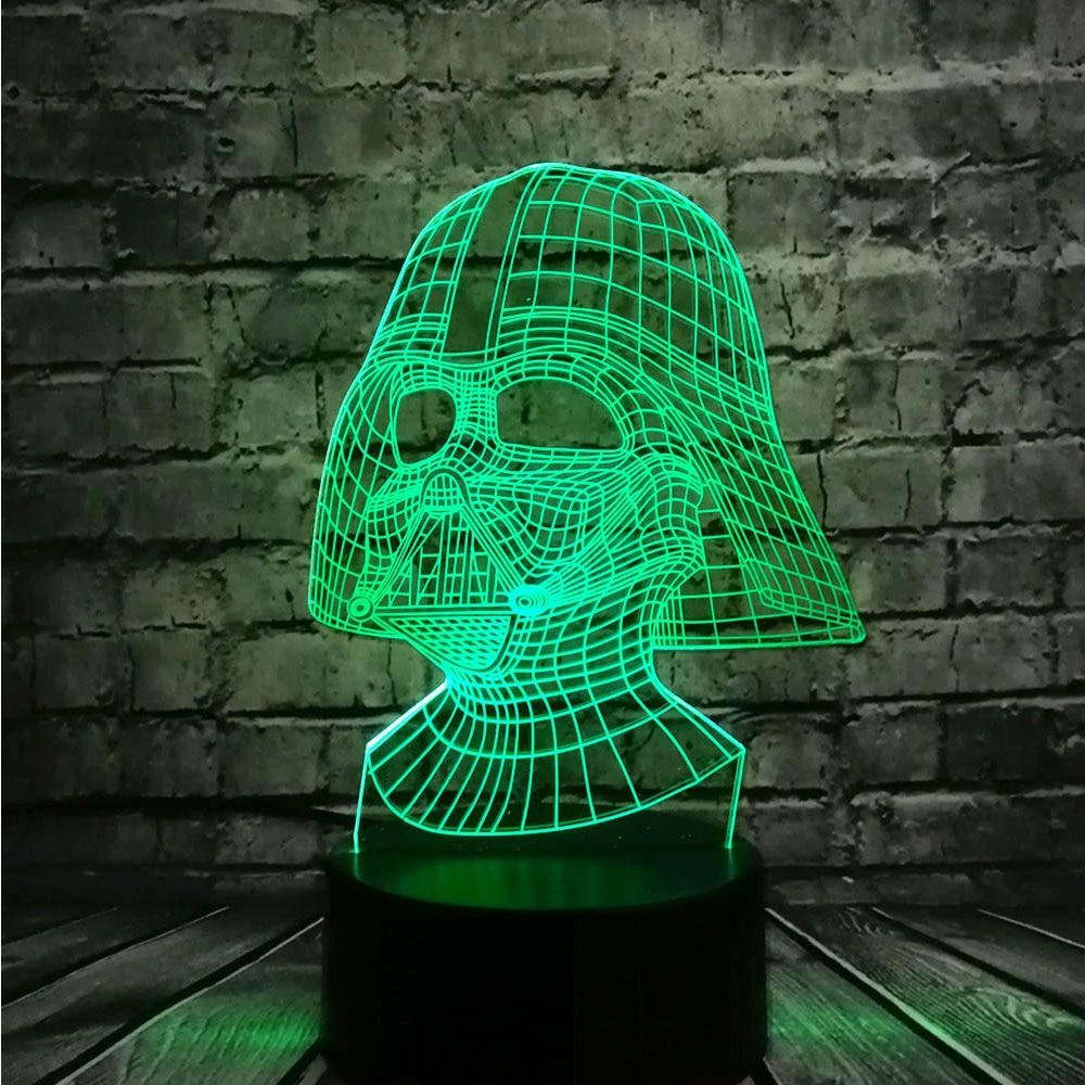 NUEVO Star Wars Darth Vader Dark Warrior 3D Night light USB LED - Luces nocturnas - foto 2