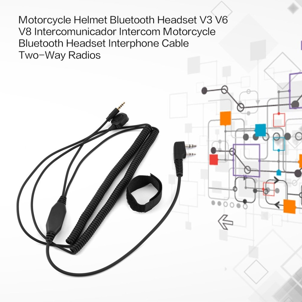 v3 v6 v8 v1098a v5s bluetooth helmet headset special connecting cable for kenwood baofeng uv 5r uv 82 gt 3 two way radio in walkie talkie from cellphones  [ 1000 x 1000 Pixel ]