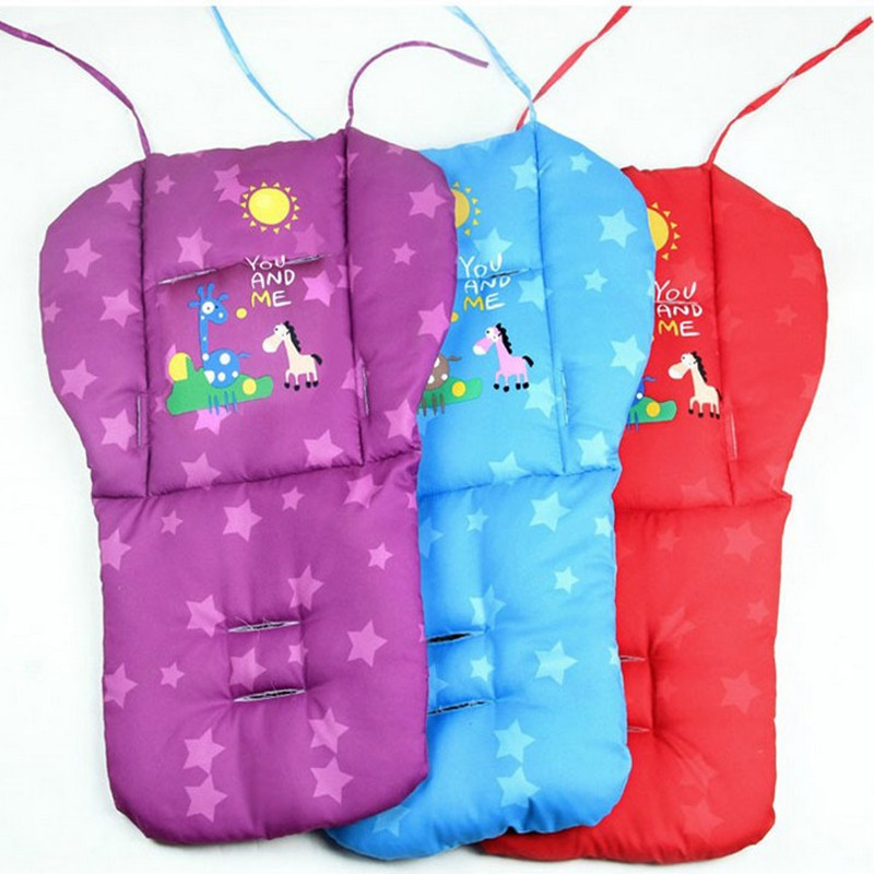 Blue Purple Red Baby Stroller Pad,Baby Stroller Seat Cushion,Baby Carriage  Accessories,Baby Seat Mat,Portable Kids Chair Cushion